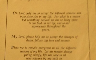 A Prayer for the Seasons…